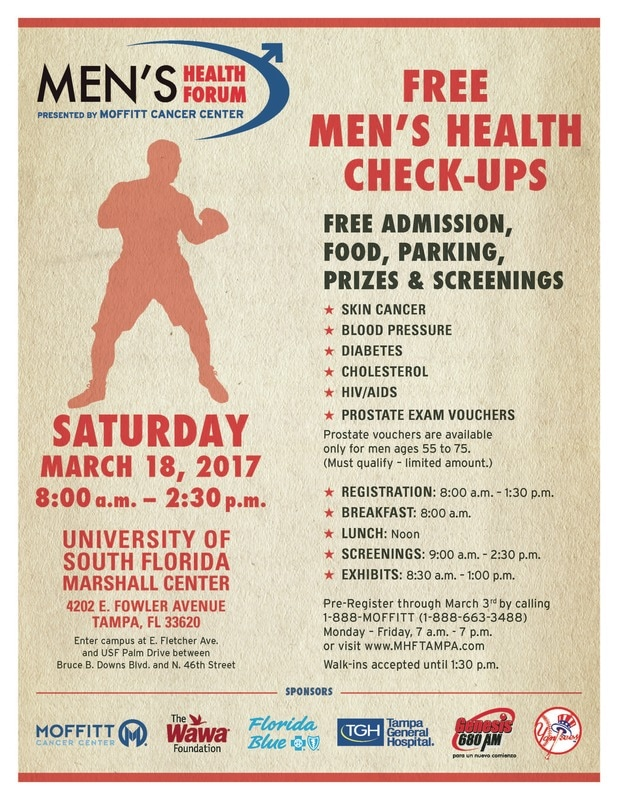 Event Flyer - Men'S Health Forum-Tampaa Yearly Health